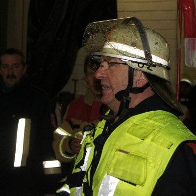 Einsatzleiter Heinrich Schmidt, örtlicher Kommandant der Feuerwehr Weidenberg..