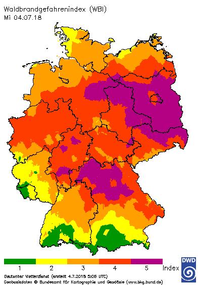 waldbrandkarte